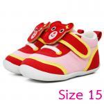 [Size15] [แดง] รองเท้าเด็กหน้าหมีสองสไตล์[พื้นยาง]