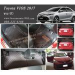 พรม 6D Toyota Vios สีดำด้ายแดง