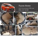 ยางปูพื้นรถยนต์ Toyota sienta ลายธนูสีน้ำตาล