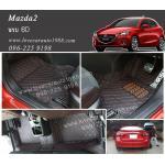 พรม 6D Mazda2 สีดำด้ายแดง