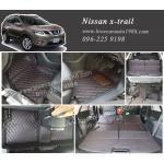 พรม 6D Nissan x-trail สีดำด้ายแดง (7ที่นั่ง)