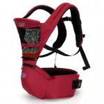 [สีแดง] เป้อุ้มเด็กคาดเอว Aiebao Hip seat รุ่น Airflow