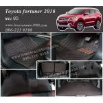 พรม 6D Toyota Fortuner สีดำด้ายแดง