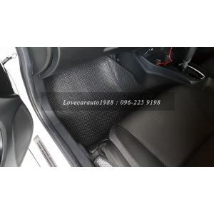 พรมรถยนต์ Honda City2017 กระดุมเล็กดำ