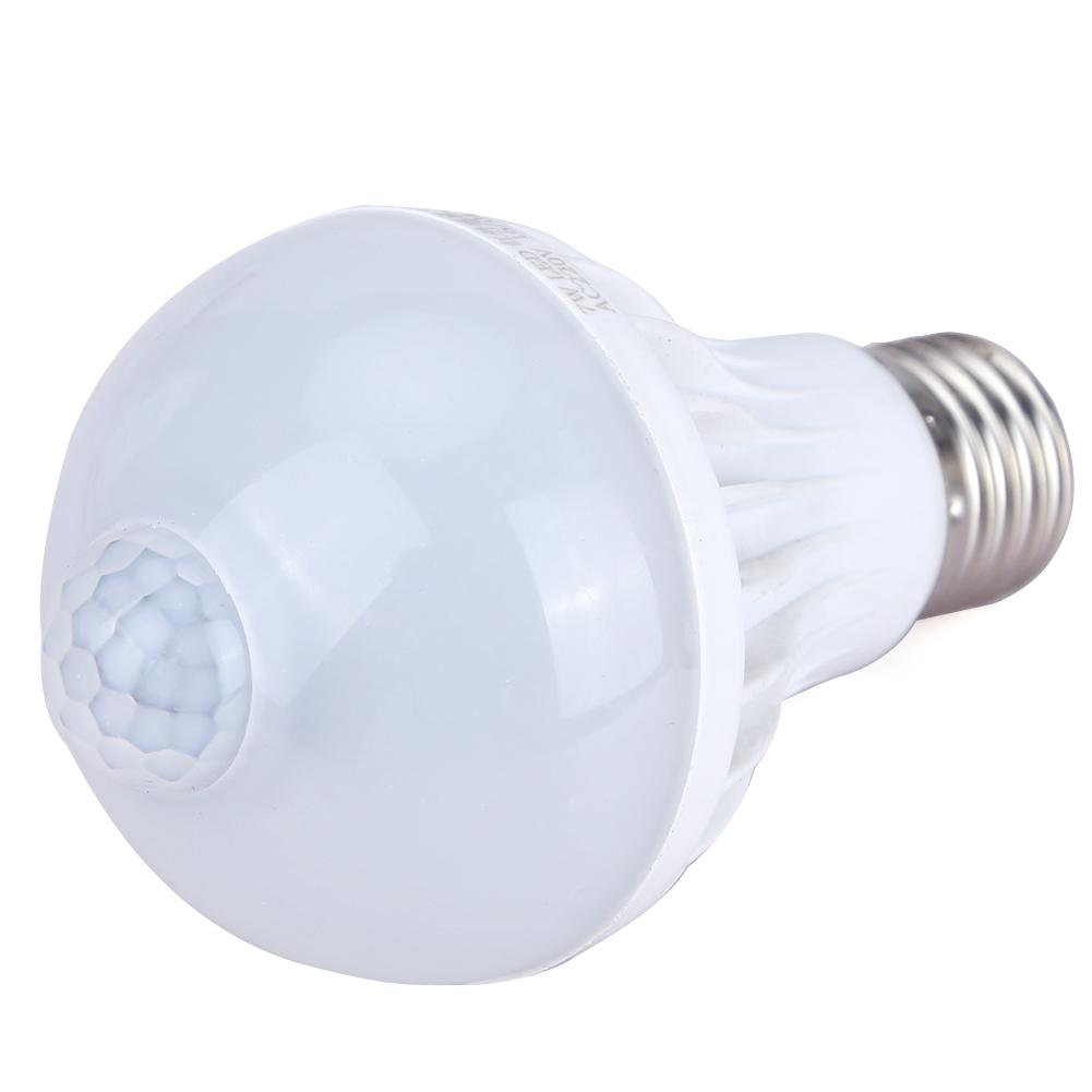 หลอดไฟมีเซ็นเซอร์ตรวจจับการเคลื่อนไหว LED PIR Motion Sensor E27 5w