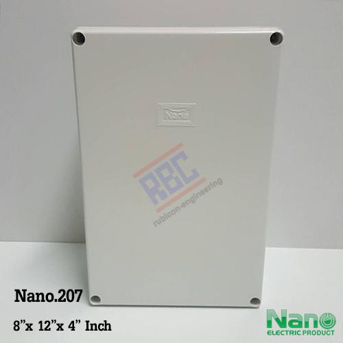 """กล่องพลาสติกกันน้ำ Nano.207 ( 8x12x4"""" นิ้ว)"""