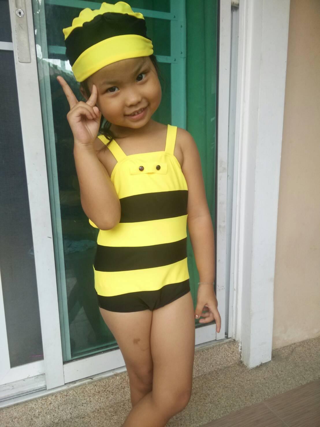 ชุดว่ายน้ำเด็ก ผึ้งน้อยน่ารัก