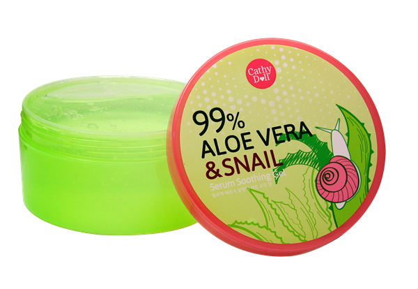 99% Aloe Vera & Snail Serum Soothing Gel by Cathy Doll เซรั่มสเนล & อโลเวร่า 99%