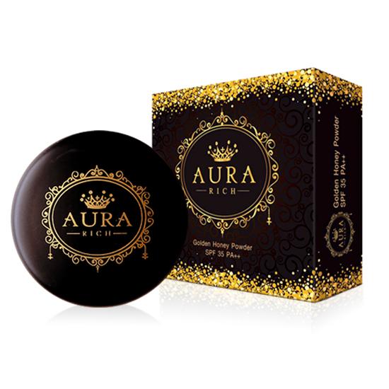 แป้งออร่าริช Aura Rich Goldden honey Powder SPF35 PA+++