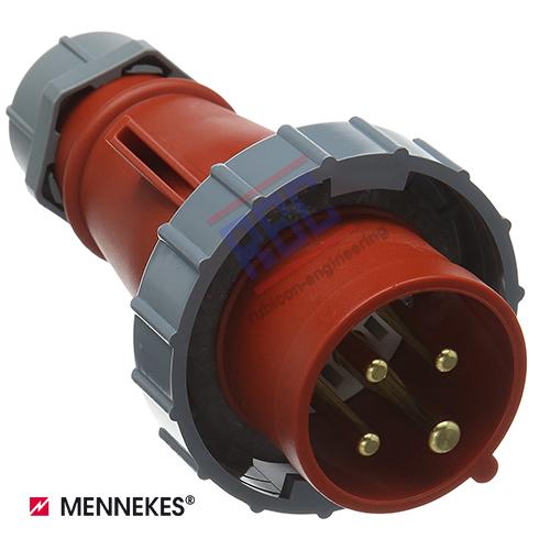 ปลั๊กตัวผู้กันน้ำ MENNEKES (รหัส 294) (4P) 32A ,400V ,IP67