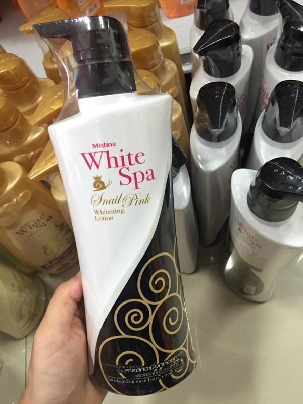 Mistine White Spa Snail Pink Whitening Lotion มิสทิน ไวท์สปา สเนล พิงค์ ไวท์เทนนิ่ง โลชั่น