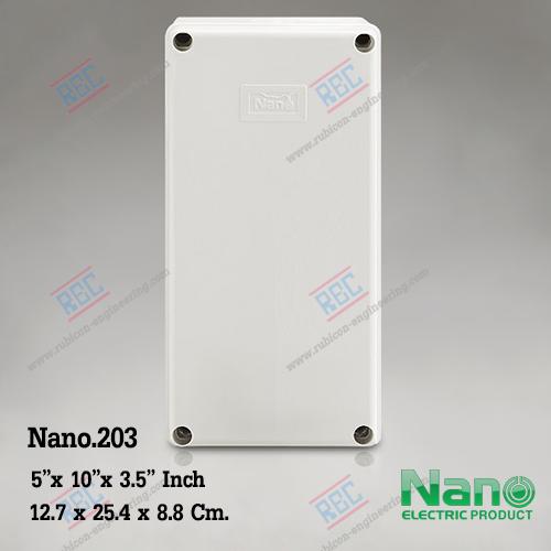 """กล่องพลาสติกกันน้ำ Nano.203 (5""""x10""""x3.5"""")"""