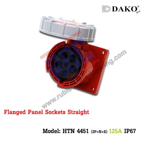 เต้ารับฝังตรงกันน้ำ HTN 4451 (5P) 125A ,380-415V ~, IP67 ,DAKO