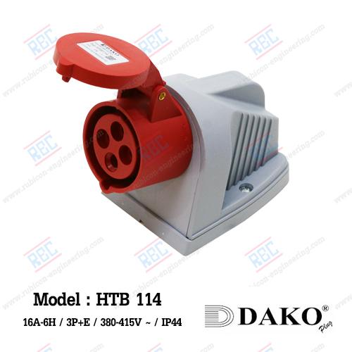 HTB 114 เพาเวอร์ปลั๊กเต้ารับติดลอย (3P+E) 16A/380-415V ~/IP44