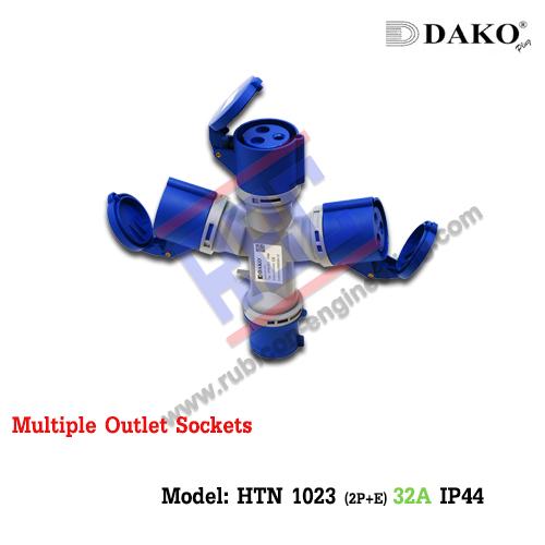 ปลั๊กแยกสามทาง( HTN 1023) (2P+E) 32A ,220-250V ~,IP44
