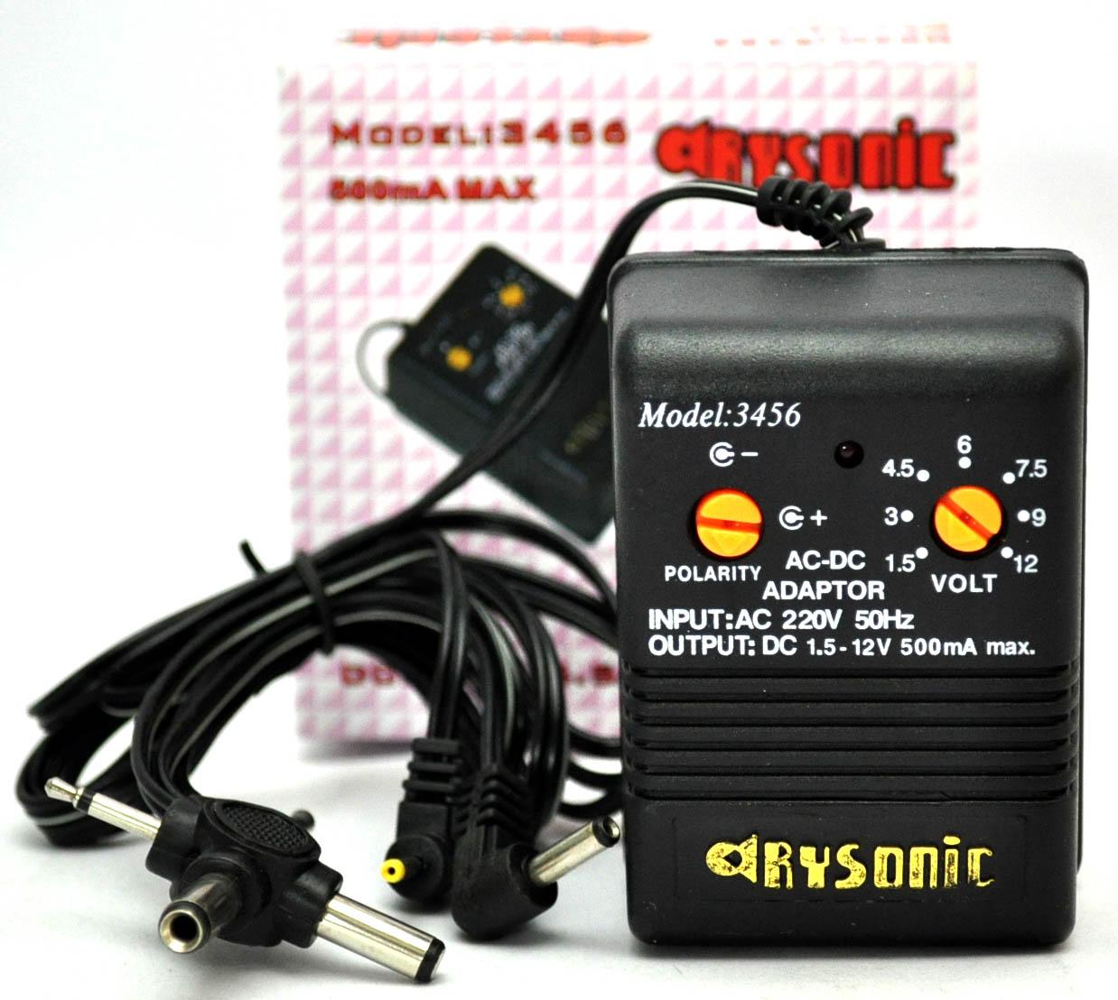 หม้อแปลง Adapter 1.5-12V รุ่น AC-3456 (500mA) 6 in 1
