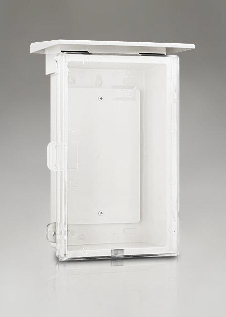 """ตู้พลาสติกกันน้ำ มีหลังคา ฝาใส 8""""x12.5""""x6"""""""