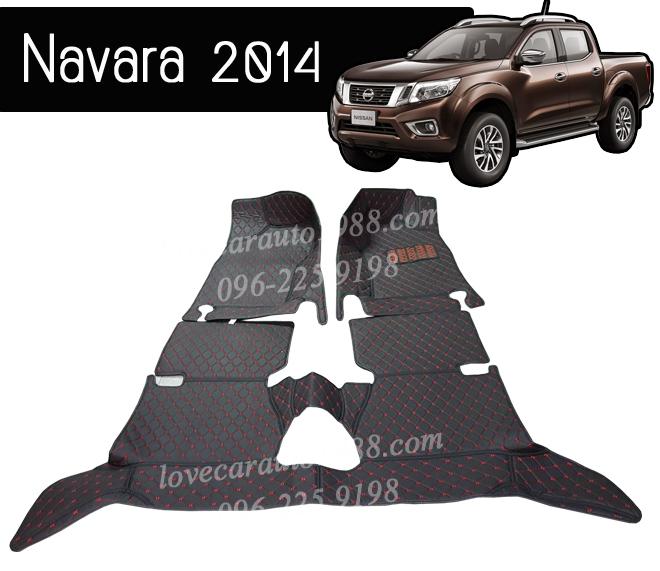 พรม 6D Nissan Navara 2014 สีดำด้ายแดง