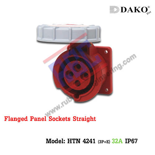 เต้ารับฝังตรงกันน้ำ HTN 4241 (4P) 32A ,380-415V ~, IP67 ,DAKO