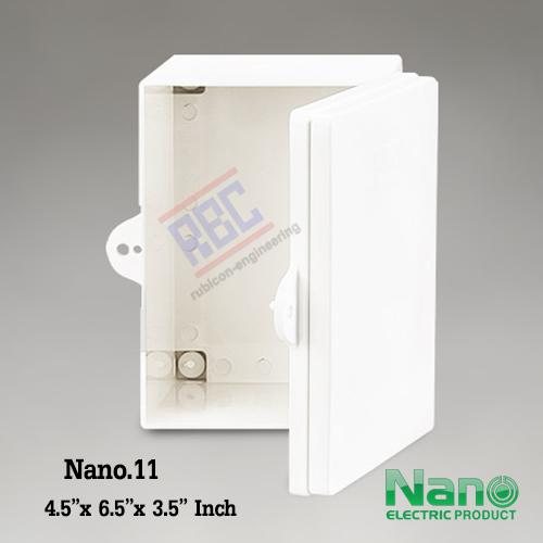 """ตู้พลาสติก ฝาทึบ (NANO11) 4.5x6.5x3.5"""""""