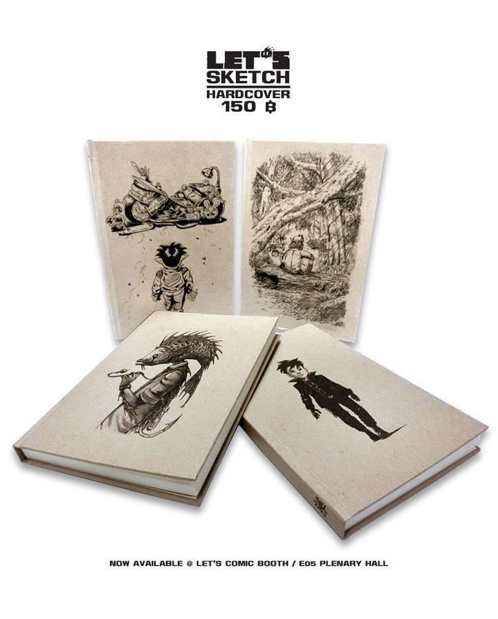 Let's Sketch สมุดสเก็ตซ์จาก 4 นักวาดการ์ตูน The Duang / Puck / เอกสิทธิ์ ไทยรัตน์ / สะอาด