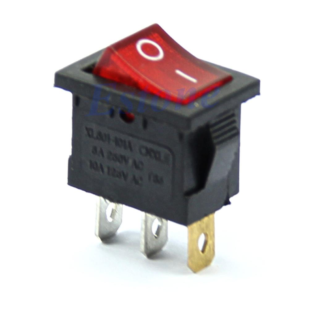 สวิทช์กระดก 3Pin มีไฟสีแดง Rocker Switch-Y122