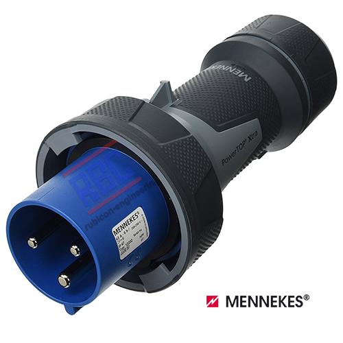 ปลั๊กตัวผู้กันน้ำ MENNEKES (รหัส 13216) (3P) 125A ,230V ,IP67