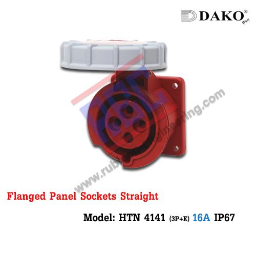 เต้ารับฝังตรงกันน้ำ HTN 4141 (4P) 16A ,380-415V ~, IP67 ,DAKO
