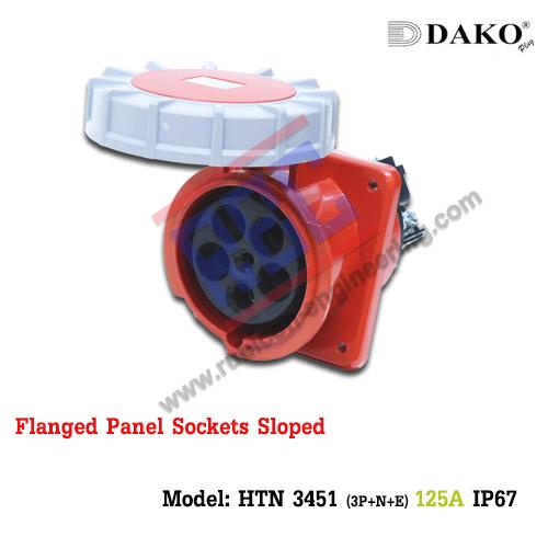 เต้ารับฝังเฉียงกันน้ำ HTN 3451 ,(3P+N+E) 125A, 380-415V ~, IP67