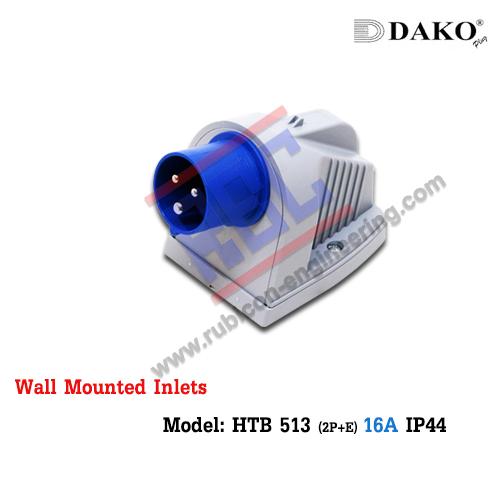 เพาเวอร์ปลั๊กตัวผู้ติดลอย HTB 513 , (2P+E) 16A , IP44 ,DAKO