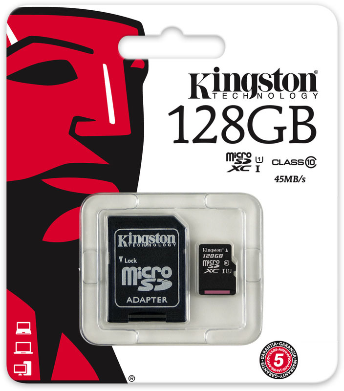 128 GB MICRO SD CARD KINGSTON CLASS 10