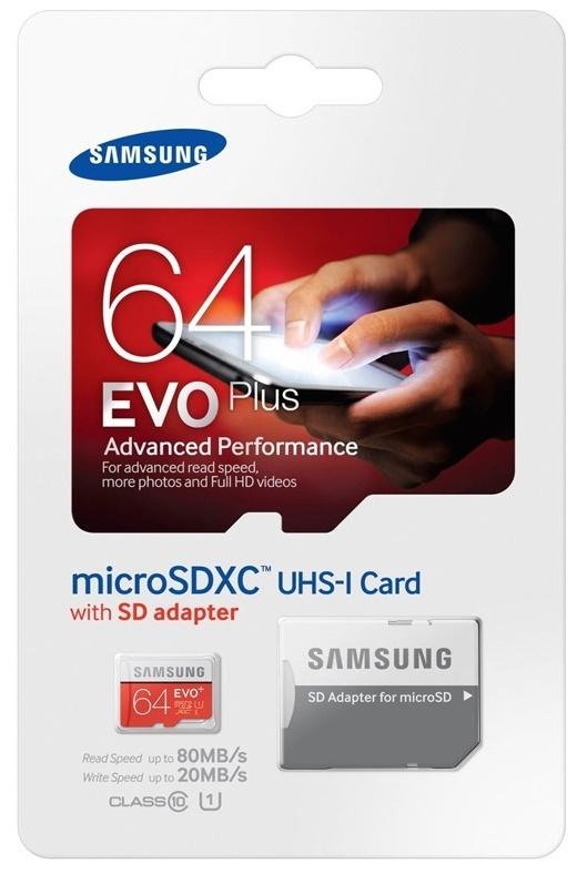 64 GB MICRO SD CARD EVO PLUS SAMSUNG CLASS 10