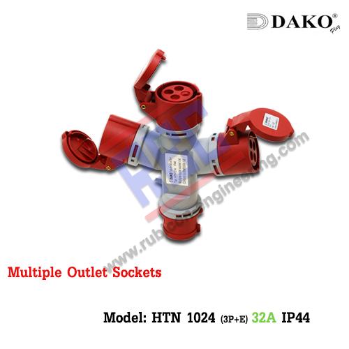 ปลั๊กสามทาง (HTN1024) (3P+E) 32A ,400V ~,IP44