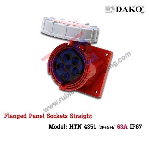 เต้ารับฝังตรงกันน้ำ HTN 4351 (5P) 63A ,380-415V ~, IP67 ,DAKO