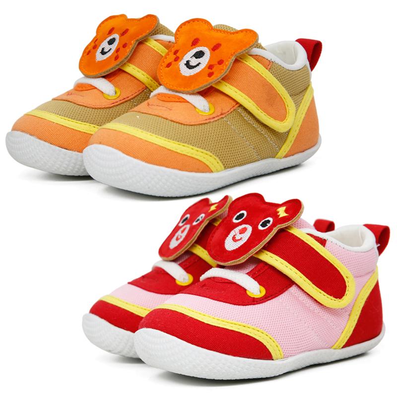 รองเท้าเด็กหน้าหมีสองสไตล์ [พื้นยาง]