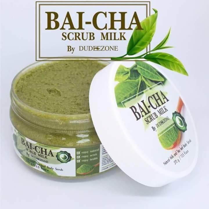 ใบชาสครับ Bai-cha Scrub Milk by Dudeezone