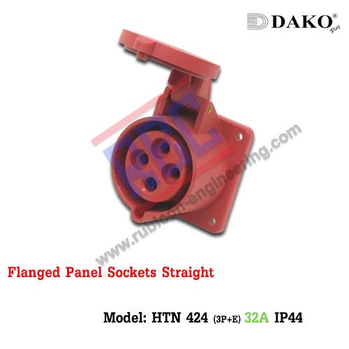 เต้ารับฝังตรง HTN 424 (4P) 32A ,380-415V ~, IP44 ,DAKO