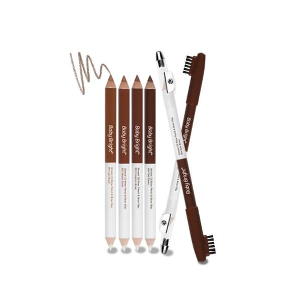 Baby Bright Almond Oil Brow Pencil & Brow Wax ดินสอและแวกซ์เขียนคิ้ว มอบทรงสวย คิ้วแข็งแรงแบบธรรมชาติ