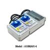 A10MA01-4 กล่องปลั๊กสนามพร้อมสวิทช์ (2P+E) 16A 230V