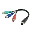 S-Video 7 Pin to Female 3 RCA Component Cable