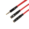 สายแปลงหูฟัง PC โน้ตบุ้ค ให้ใช้กับมือถือ Stereo Mic Audio Adapter Cable
