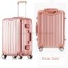 กระเป๋าเดินทาง ขนาด 24 นิ้ว - สีชมพู