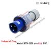 HTN 0331 ปลั๊กตัวผู้กลางทางกันน้ำ (2P+E) 63A / IP67