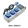 A06MA07-4 กล่องเพาเวอร์ปลั๊ก (2P+E)16A (IP67)