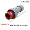 HTN 0341 ปลั๊กตัวผู้กลางทางกันน้ำ (3P+E) 63A IP67