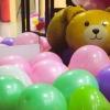 ลูกโป่งฟอร์ยรูปหมีสีทอง ขนาด 21.3x35.4 นิ้ว