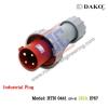 HTN 0441 ปลั๊กตัวผู้กลางทางกันน้ำ (3P+E) 125A IP67