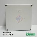 """กล่องพลาสติกกันน้ำ Nano.206 ( 8x8x4"""" นิ้ว)"""