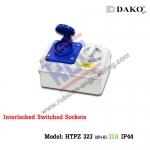 เต้ารับพร้อมสวิทช์ล็อค(HTPZ 323) (2P+E)32A ,220-250V ~ ,IP44