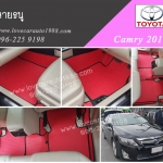 พรม Toyota camry 2016 ลายธนูแดงขอบดำ